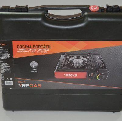 Cocina a cartucho de gas portátil 1 fuego con maletín