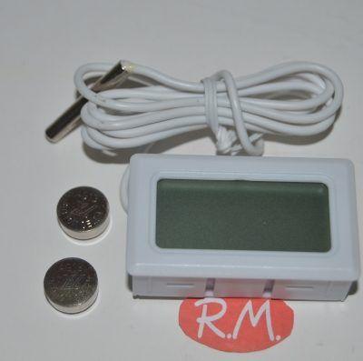 Termómetro digital - 50° + 70° con 1200 mm de capilar