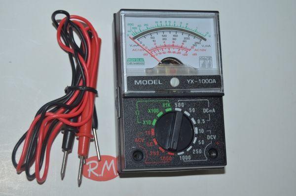 Téster multímetro analógico YX-1000A