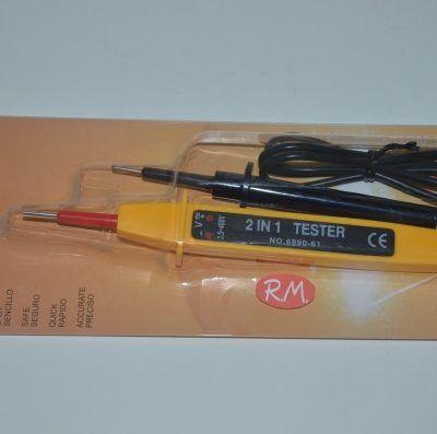 Comprobador de voltaje por 2 leds de 3,5v y 400v