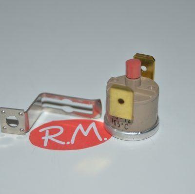 Termostato fijo Ø 16 mm NC 165° con anclaje con rearme