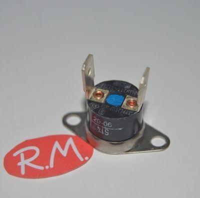 Termostato fijo Ø 16 mm NC 120° con anclaje