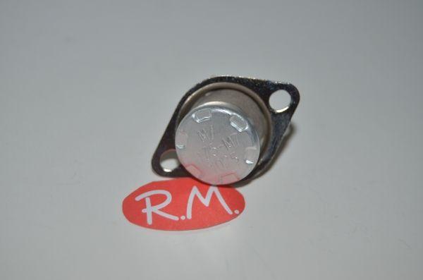 Termostato fijo Ø 16 mm NC 175° con anclaje y rearme