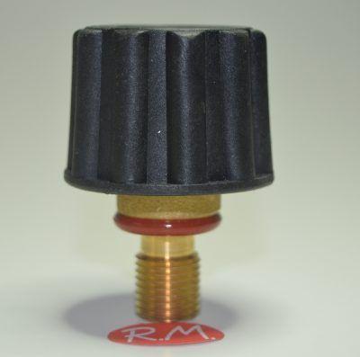 Tapón de seguridad vapor Ø 44 mm rosca macho 1/4' 14 mm