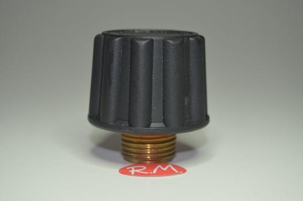 """Tapón de seguridad vapor Ø 44 mm rosca macho 1/2"""" 21 mm"""