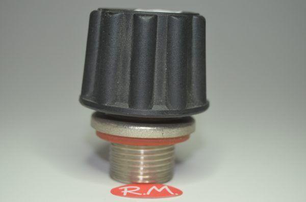 """Tapón de seguridad vapor Ø 44 mm rosca macho 5/8"""" 23 mm"""