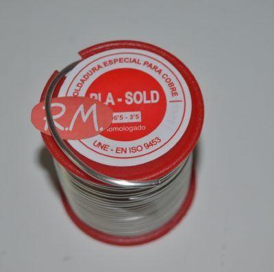Rollo 250 gramos estaño - plata 3,5% 2 mm