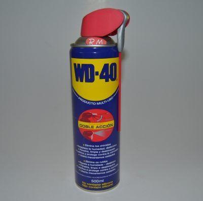 Aceite lubricante en spray 500 ml WD-40 doble acción