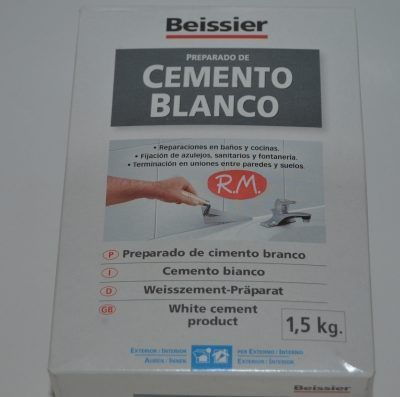 Aguaplast cemento blanco caja 1.5 kg Beissier