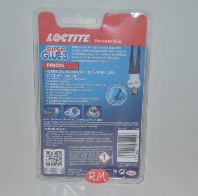 Super Glue 3 5gr pincel Loctite