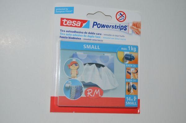Tesa powerstrips cinta adhesiva doble cara 14 tiras 1 5cm for Cinta adhesiva doble cara tesa