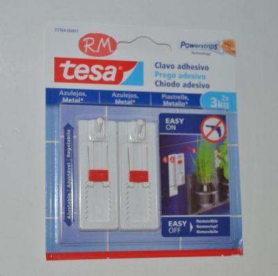Tesa powerstrip clavo adhesivo azulejos 3kg 77764