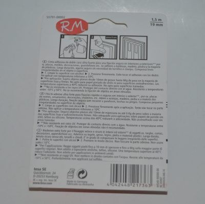 Tesa powerbond cinta adhesiva doble cara 1,5cm x 19mm