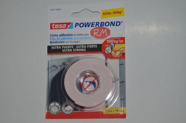 Tesa powerbond cinta adhesiva doble cara 1 5cm x 19mm - Cinta doble cara tesa ...