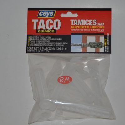 Tamiz taco químico 13x85 mm Ceys