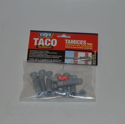 Tamiz taco químico 9x50 mm Ceys