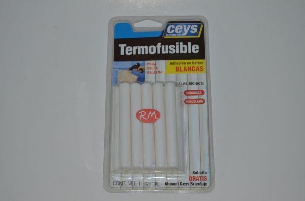 Barra blanca silicona termofusible T60 Ceys