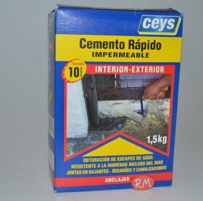 Cemento rápido impermeable 1,5Kg Ceys