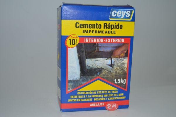 Cemento r pido impermeable 1 5kg ceys - Cemento rapido precio ...