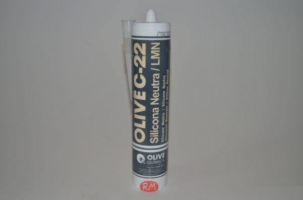 Silicona neutra transparente cartucho 300 ml Olivé C-22