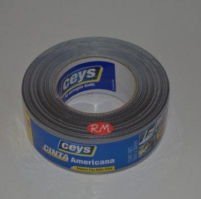 Cinta americana Tackceys 50 m x 50 mm gris Ceys