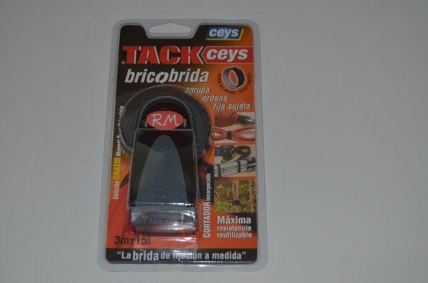 Bricobrida En Roll tackceys 3 m x 15 mm negra Ceys