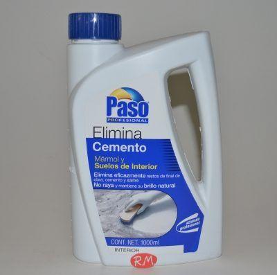 Elimina cemento mármol y suelos interior Paso