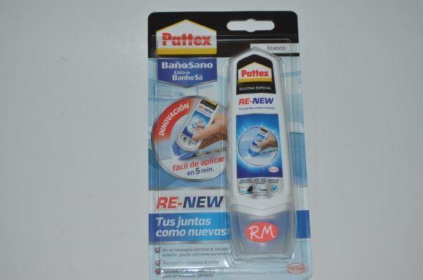 Pattex Re-new silicona baños blanca 100gr