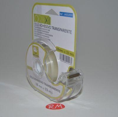 Rollo cinta celo transparente con dispensador Orix