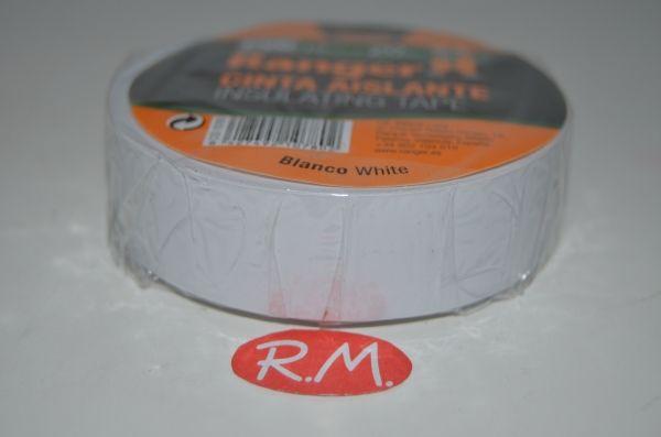 Cinta adhesiva aislante PVC blanca 20 x 19 mm