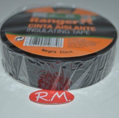 Cinta adhesiva aislante PVC negra 20 x 19 mm