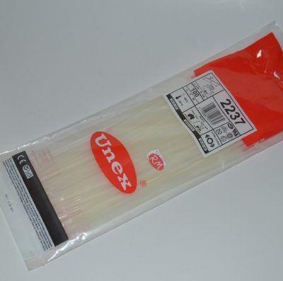Brida blanca unex 3,6 x 279 mm paquete de 100 unidades