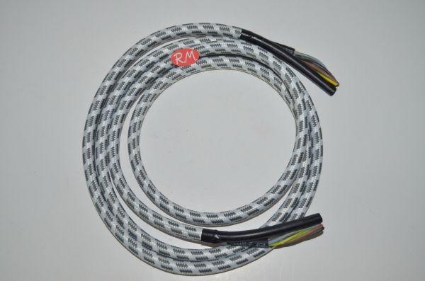 Cable más tubo vapor plancha 4 hilos 0,75 mm Ø4 x 8 mm 2 metros
