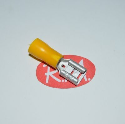 Terminal faston hembra amarillo preaislado Ø6,3 mm