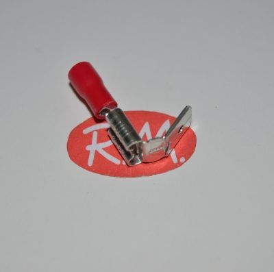 Terminal faston doble rojo preaislado Ø6,3 mm