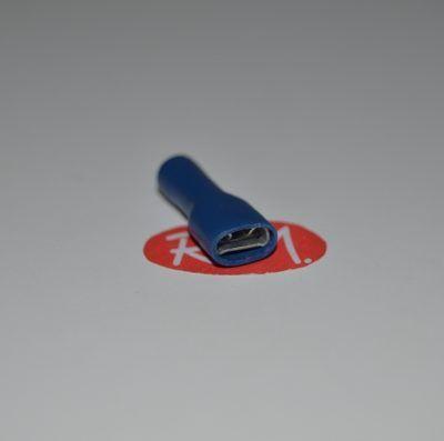 Terminal faston hembra azul aislado Ø6,3 mm