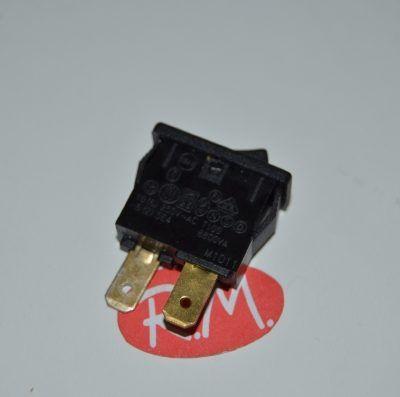 Interruptor unipolar negro 18,5 x 7 mm