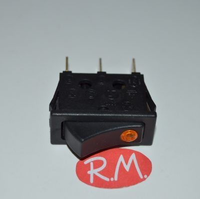Interruptor unipolar con piloto ambar 11 x 30 mm