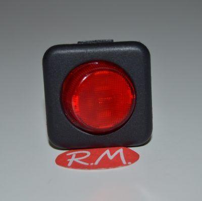 Interruptor unipolar con piloto rojo 25 x 25 mm
