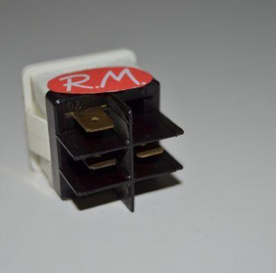 Interruptor unipolar con piloto ambar 25 x 25 mm