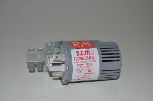 Filtro antiparasitario lavadora 0,47uf 619928