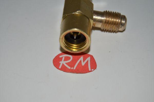 Válvula carga para botella refrigerante desechable R22