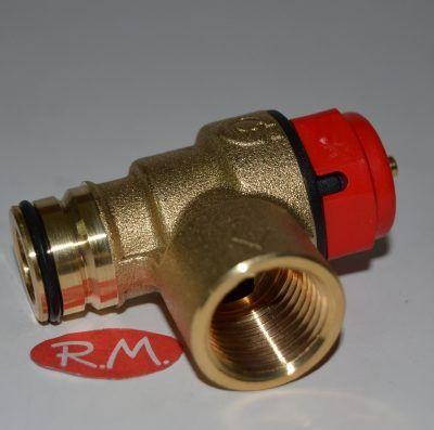Válvula de seguridad caldera Beretta R2907 3 bar 90°