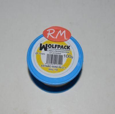 Rollo 100 gramos estaño 50 % 1 mm