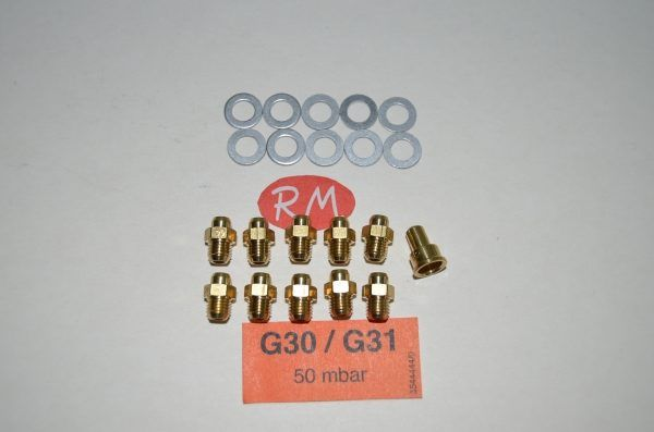 Conjunto inyectores a gas butano calentador Cointra Supreme 11 39843720
