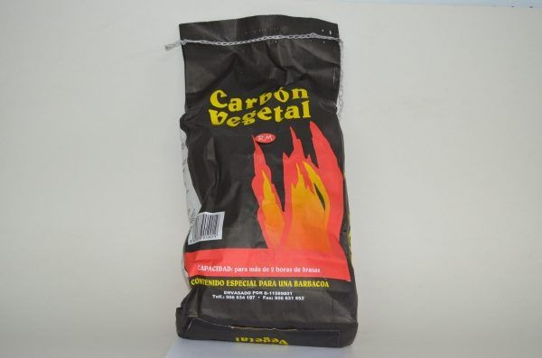 Carbón de encina en bolsa de 8 litros