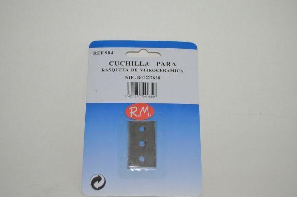 Cuchilla de recambio para rasqueta tipo better 41 x 24 mm