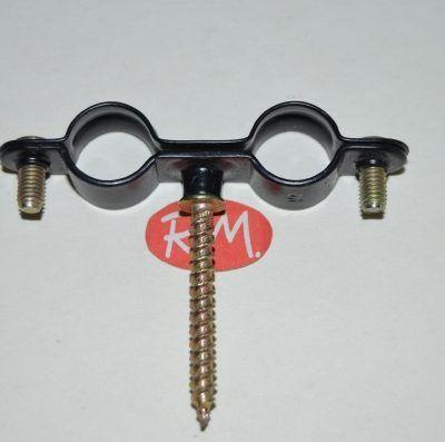 Abrazadera tirafondo M6 18 mm gásmica doble