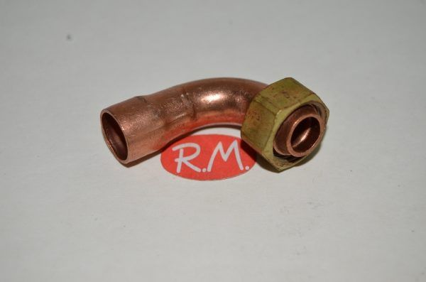 Racor dos piezas curvo H 3/8 Ø 12 mm