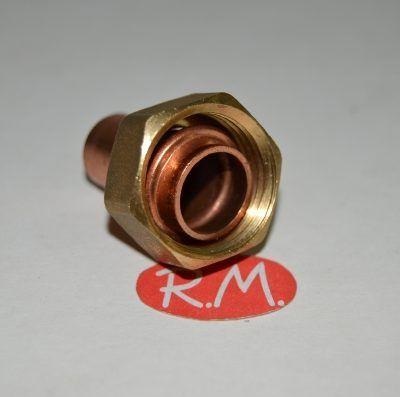 Racor dos piezas recto H 1/2 Ø 10 mm